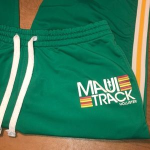 Vintage Green Hollister Maui Track Warm Up Pants